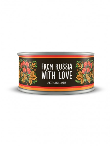 """Банка с шоколадным драже """"From Russia With Love"""""""