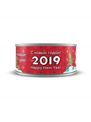 Шоколадное драже Свинка На Санках 2019