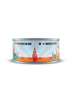 """Банка с шоколадным драже """"Я Люблю Москву"""""""